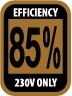 >85%(230V Only)