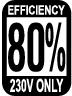80%(230V Only)